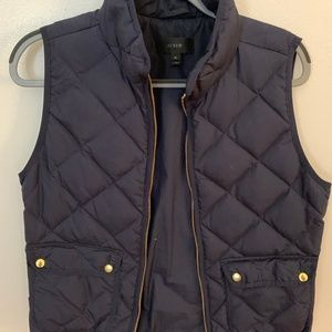 J.Crew Navy Excursion Quilted Down Vest
